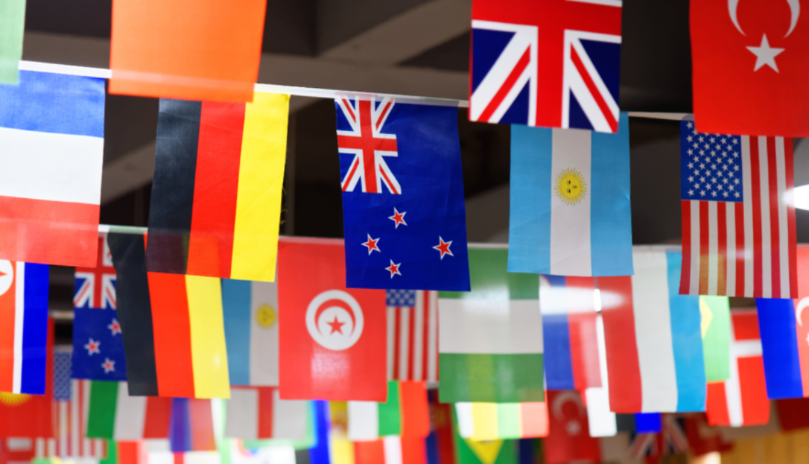 Flags hanging